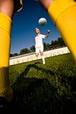 футбол девушок Стоковое Изображение