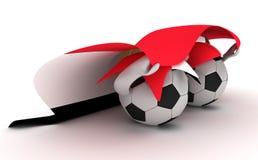 футбол 2 владением флага Египета шариков Стоковое Фото