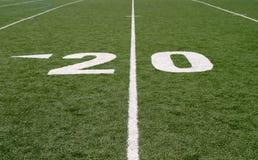 футбол 20 поля Стоковая Фотография