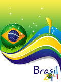футбол 2014 плаката футбола Бразилии Стоковые Изображения RF