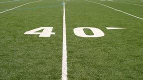 футбол 40 поля Стоковое фото RF