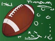 футбол chalkboard детальный Стоковые Изображения