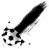 футбол grunge шарика предпосылки иллюстрация штока