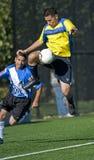 футбол mens управлением шарика Стоковые Фотографии RF