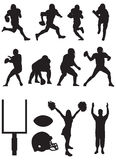 футбол silhouettes команда Стоковое Фото