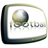 футбол tv Стоковое Изображение RF