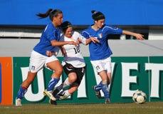 футбол u19 спички Австралии женский содружественный Италии Стоковое фото RF