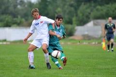 футбол u19 nyirsuli игры kaposvar стоковые изображения