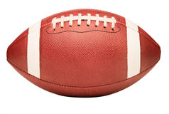 Футбол американской средней школы коллежа младший на белизне Стоковые Изображения