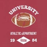 Футбол атлетический dept университета вектор бесплатная иллюстрация