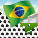 футбол Бразилии иллюстрация штока