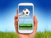 Футбол вахты онлайн Стоковые Фотографии RF