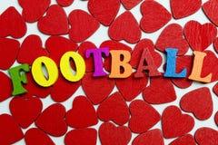 Футбол ВЛЮБЛЕННОСТИ Стоковое Изображение