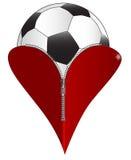 Футбол влюбленности иллюстрация штока