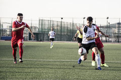 Футбол Гибралтара - четвертьфиналы чашки утеса пункта Европы Европы v Стоковое фото RF