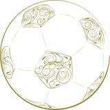 футбол горящего стекла шарика aqua Стоковое фото RF