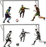 Футбол - действие goalmouth Стоковая Фотография RF