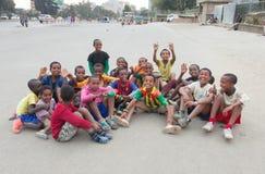 Футбол детей в Эфиопии Стоковое Изображение RF