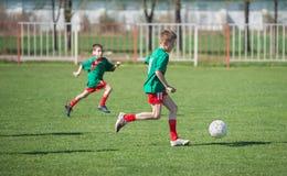 Футбол детей Стоковая Фотография RF