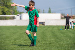 Футбол детей Стоковая Фотография