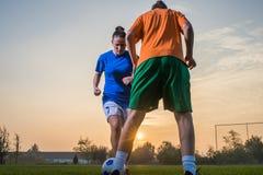 Футбол женщин стоковые изображения