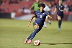 2015 футбол женщин NCAA - WVU-Мэриленд Стоковая Фотография
