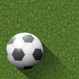 футбол зеленого цвета поля шарика Стоковые Фото