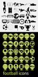 Футбол значка стоковое фото rf