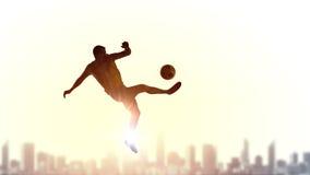 футбол игрока шарика пиная Стоковое Изображение