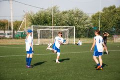 Футбол игры девушек Стоковое Изображение RF
