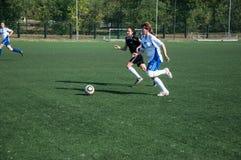 Футбол игры девушек Стоковое Фото