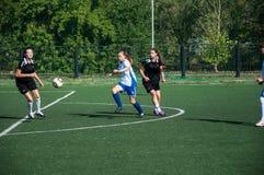 Футбол игры девушек Стоковые Фото