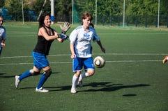 Футбол игры девушек, Стоковые Изображения RF