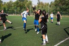 Футбол игры девушек, Стоковые Фото