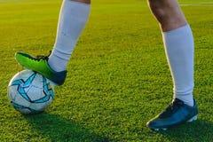 Футбол игры детей Стоковое Фото