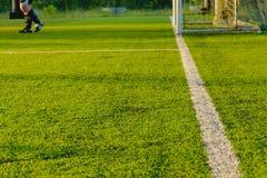 Футбол игры детей Стоковые Фотографии RF