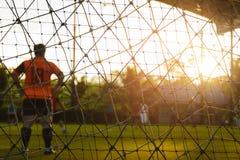 Футбол игры детей Стоковые Фото
