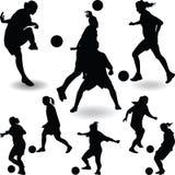 Футболист женщины Иллюстрация штока