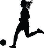 Футболист женщины Стоковое Изображение RF