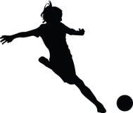 Футболист женщины Стоковая Фотография RF