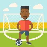 Футболист с шариком Стоковое Изображение RF