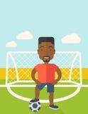 Футболист с шариком Стоковая Фотография