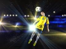 Футболист стоковые изображения