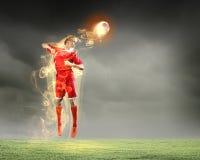 Футболист стоковое изображение rf