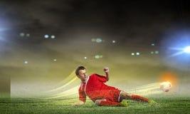 Футболист стоковые фотографии rf