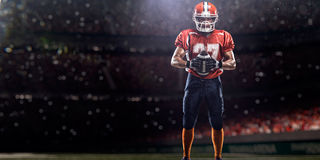 Футболист Americam стоковая фотография rf