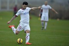 Футболист - Cristian Sapunaru стоковое изображение rf