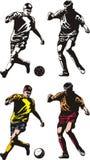 Футбол или футболисты Стоковое Изображение RF