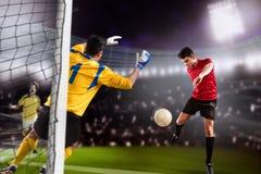 Игра футбола Стоковые Изображения RF