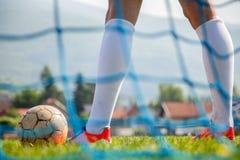 Футбол или футболист Стоковая Фотография RF